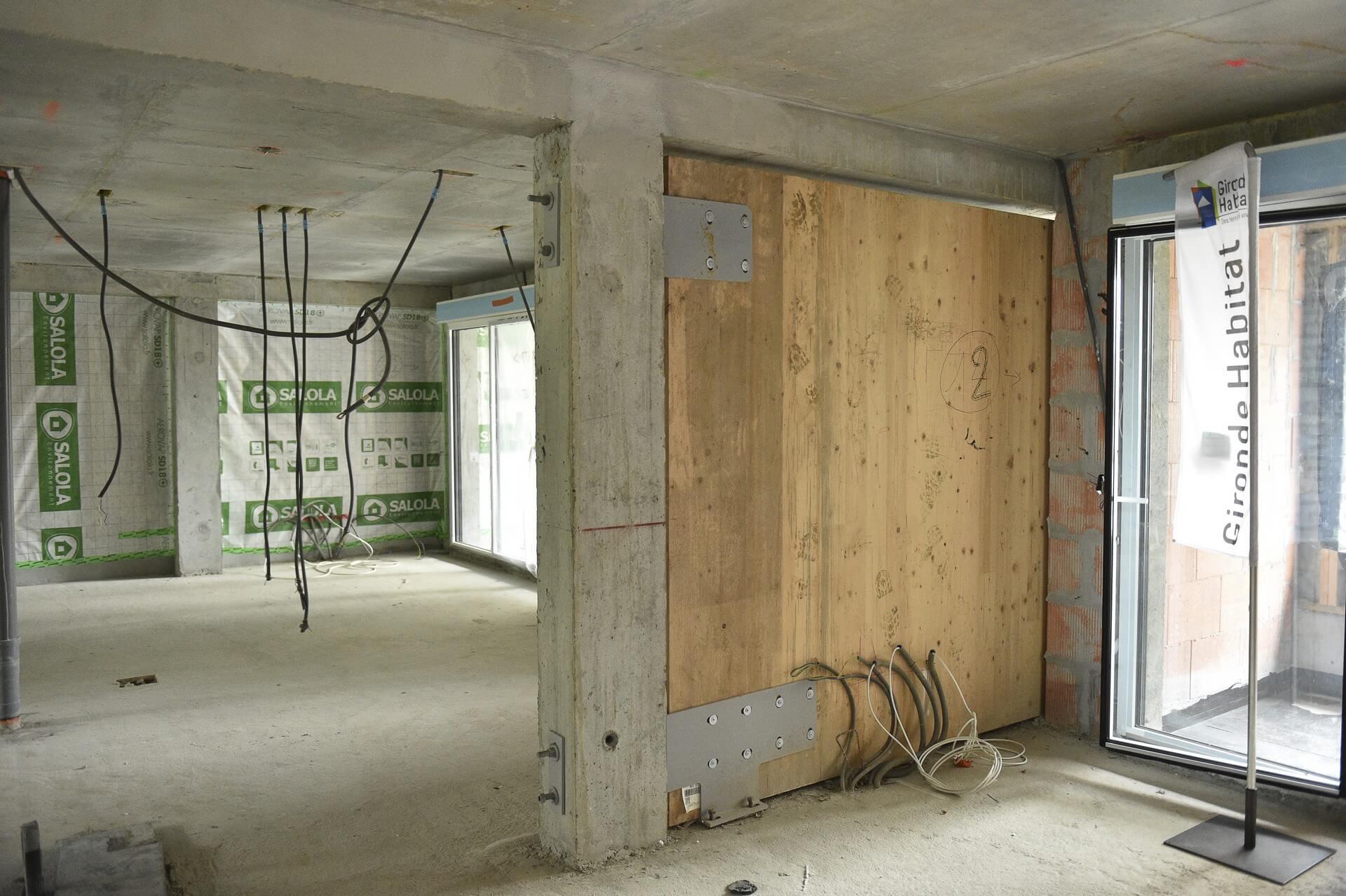structure mixte béton et bois (CLT)